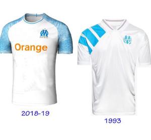 Maillot de pies om 2018 2019 y retro antigua Marsella 1992 1993 jerseys tamaño Olympique de Marseille camisetas de los hombres de Europa s la xxl 92 93