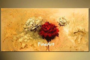 Büyük duvar el yapımı soyut çiçek tuval boyama akrilik resim sergisi sanat modern duvar tuval art deco resim sergisi satış oturma odası için