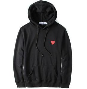 2019 gelgit marka oyun hoodie Kazak Gevşek Kırmızı Kalp Nakış Karakter Kapşonlu hip hop erkekler kadınlar kapşonlu kazak sweatershirt