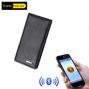 Hombres de cuero genuino Anti Lost inteligente Bluetooth Smart Wallet Hombres GPS Locator Wallet