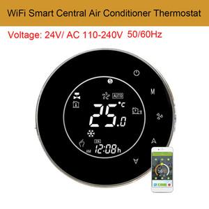 AC110-240V WiFi Akıllı Merkezi Klima Sıcaklık Kontrol LCD Arka Dokunmatik Ekran 2 Boru Programlanabilir Termostat