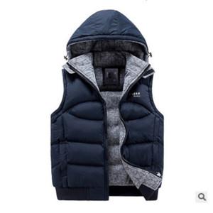 Gilet di cotone invernale Giacca da uomo in cotone spesso imbottito Cappuccio rimovibile Cappotto caldo Spessa capispalla Uomo Gilet Top