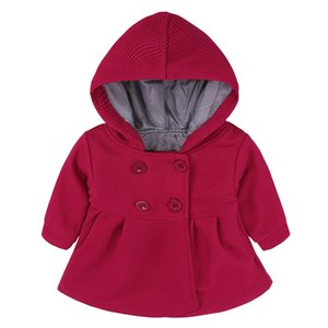 Baby Coat Toddler Girls Spring Winter Horn Button Hooded Coat Outerwear Jacket Children Girls Clothing
