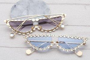 donna più nuova Metal set au occhiali da donna fashion Triangolare cat eye frame Driving occhiali vento Occhiali da sole freddi occhiali da sole ragazza libera la nave