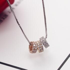 Роскошный Цирконий Круглый кулон ожерелье Элегантный воротник Choker ожерелье для женщин в качестве подарка партии мода ювелирные изделия