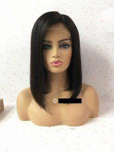 Fashion wigs human hair full lace short BOB quantity discount lace wig for black women support perm hair dye