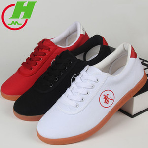 Hot Canvas Tai Chi Shoe Tendon Good Quality Martial Art Shoes Soft Boom Practice  Shoes Wingchun