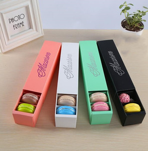 Macaron Box Cake Boxes Home Supplies Paper Chocolate Boxes Biscuit Muffin Box Bakeware Packaging Gift Box nt 20.5*5.4*5.3cm