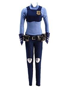 Traje Cosplay Uniforme Azul Rabbit Bunny Policial Coelho
