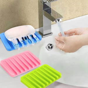 Drenaj banyo aksesuarları ile silikon Yaratıcı sabunluk sabunluk sünger drenaj sabunluk kutusu durumda
