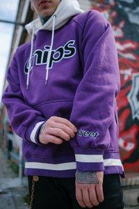 Nuovo hip hop ricamo uomo con cappuccio casual tutto abbinato maglione felpe autunno inverno maglione uomo pullover stampa cotone lettera vendita calda