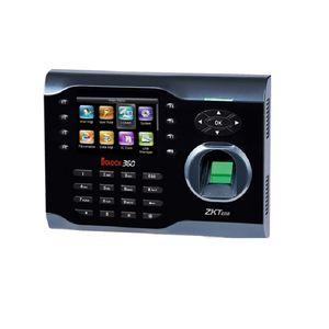 ZK-Fingerabdruck-Zeiterfassungsterminal iClock360 3,5-Zoll-Bildschirm 125Khz EM-Identifikation-Karte und Fingerabdruck-Zeit-Taktgeber-System Englisch ver