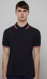 London Mode Classic Hommes Casual Polo Shirt 2017 Angleterre Jaune Stripes Londres T-shirts T-shirts Garçons Tees Tees Polos Black Green Grey