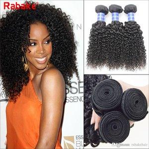Raw Indio Kinky Curly Virgin Virgin Hair Weave Bundles 100% Indio Sin Procesar Extensiones de Cabello Humano Rabake Mejor Venta al por mayor Barato Doble Tramas
