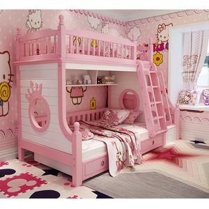 Madeira maciça com escadas de armazenamento cerca de segurança armário de escada colorido crianças mobília do quarto cama de beliche gaveta da mobília