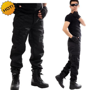 NEW Outdoors Cargo Overalls commando black Multi-pocket Labor protection security guard field jungle tactical pants