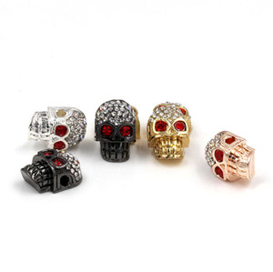 2019 Moda DIY Jóias fresco Diamante de liga crânio Beads para pulseira e colar 12 PCS Atacado
