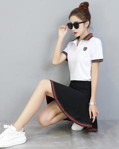 Toptan İki Adet Set Kadın Kısa Kollu T Gömlek Üst Kırpılmış + Etek Eşofman Yeni Nedensel Spor Ücretsiz Kargo.