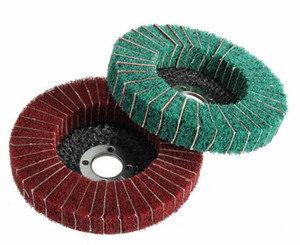 Оптовая Бесплатная доставка высокое качество 100 мм 120/240 грит нейлон волокна колеса абразивной полировки полировки диска