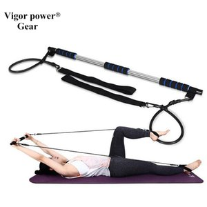 Vigor Power Gear Yoga chest pull rope Exercise Bar Pilates Fitness Rods yoga tubes with bar