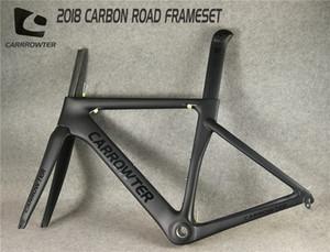 Usine vente UD mat / brillant BOB noir sur noir CARROWTER carbone cadres de vélo de route avec BB68 taille 48/51/54 / 56cm livraison gratuite