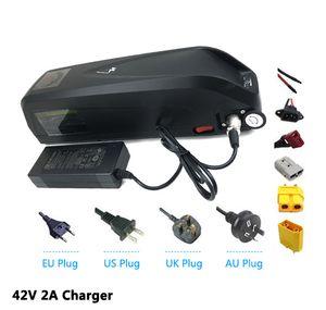 EU US AU NO TAX 새로운 Hailong 52V 14Ah eBike 배터리, USB 14S 51.8V 리튬 이온 배터리, 1000W 1200W 모터 용