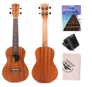 PRO 23 pulgadas Ukulele Classic 18 latón trastes guitarra hawaiana con ukelele lección