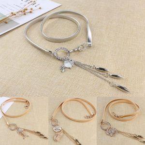 Мода женщины формальные серебряные золотые дизайнерские ремни семи видов узоров со стразами и цепями талии пояса