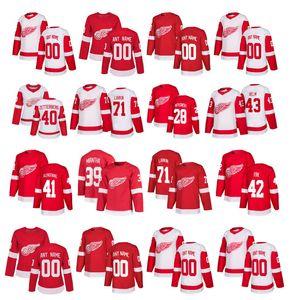 Personalizado Detroit Red Wings Camisola Anthony Mantha Dylan Larkin Henrik Zetterberg Tomas Tatar Abdelkader Witkowski Elmo Costurado Hóquei