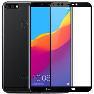 Druck gehärtetes Glas Hard Edge-Schirm-Schutz-Beweis-Schutz für Huawei P30 Lite P20 Pro Mate-20 X Y5 Y9 Nova 5 5i Honor 20i V20 9X 8A 8C