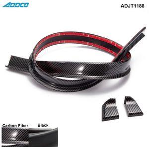 Tansky - Black Carbon Fiber 4.9ft (150cm / 1,5 m) 45MM Karosserie Trunk Hinten Dachspoilerlippe Flügel Trim Mold Aufkleber ADJT1188