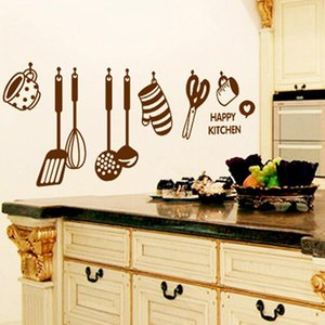 Super Deal pegatinas de pared DIY extraíble feliz cocina tatuajes de pared de vinilo decoración para el hogar pegatinas de pared nuevo HYM02