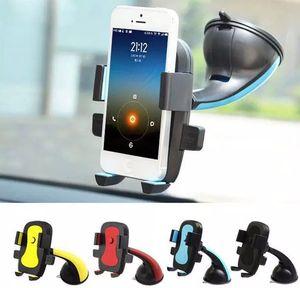 360-Grad-Auto-Windschutzscheibenhalterung Automatische Sperre Zelle Handy-Halterungen Halter Halter steht für iPhone7 6S für Samsung-Smartphone LLFA