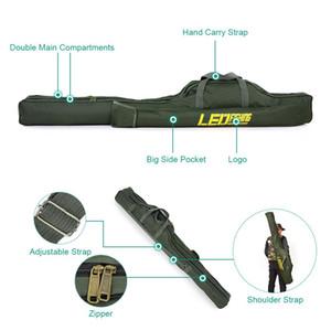 100cm / 150cm Borse da pesca Portable Folding Rod Carrier Canvas Pole Tools Custodia da viaggio Custodia Attrezzatura da pesca Tackle