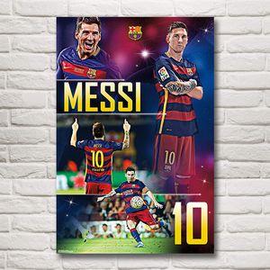 Joueur De Football Argentin Lionel Messi Art Tissu En Soie Affiche D'impression Photos Décoration Décoration Peinture 12x18 24x36 Pouces