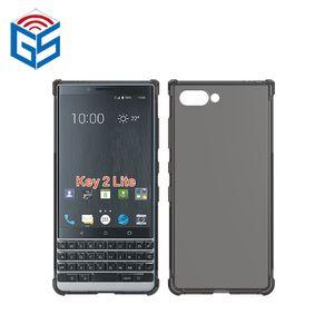 Pour Blackberry Key2 LE Key 2 LE Boîtier transparent Bord antichoc Transparent TPU Couverture arrière