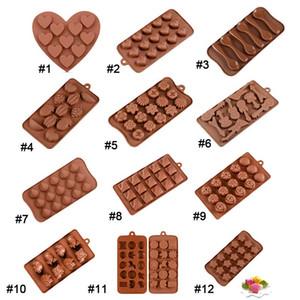 12 Stilleri Silikon Kalıplar Kek Çikolata Kalıpları Bakeware Pişirme Dekorasyon Mutfak Aksesuarları Ev Dekor Düğün Süslemeleri