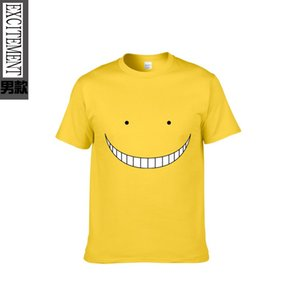 Moda Divertente giapponese Anime Assassination Aula T-shirt stampata T-shirt estiva da uomo Tees Tops Alta qualità manica corta