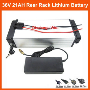 Batería posterior de la batería eléctrica de litio de la bici 1000W 36V 21AH Uso de la batería 36V de Samsung ICR18650-30B Cargador de la célula 30A BMS, 42V 2A