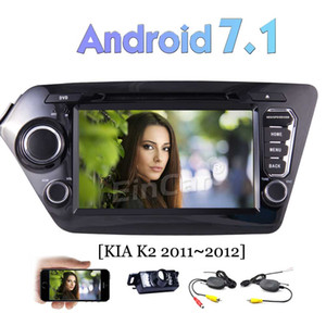 Car DVD Player Android 7.1 Car Stereo for KIA K2 (2011-2012) GPS Navi Head Unit Bluetooth 4G WIFI AV Out USB USB
