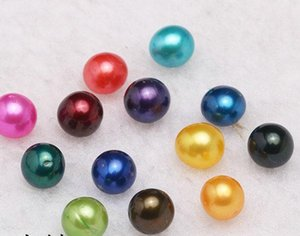 2018 6-7mm Freshwater akoya oyster with Single pearls Mixed 25 colors Top quality ROUND natural pearl in Vacuum Package For Jewelry Gif