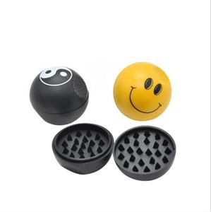 Sorridente rosto plástico cinto ímã moedor de mão todos os smog plástico