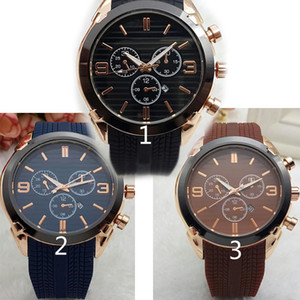 Relogio Masculino 45mm Estilo deportivo militar Relojes de hombre grandes Diseñador de moda Ceja azul Esfera negra Reloj de silicona grande grande Reloj masculino