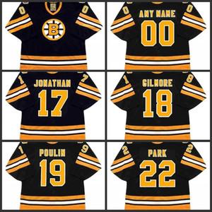 17 Стэн Джонатан 18 счастливый Гилмор 19 Дэйв Пулен 22 Брэд Парк Бостон Брюинс хоккей Джерси S-3XL