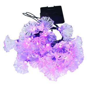 Weihnachten Blume Solar Lampe Licht String LED Morning Glory String Lichter Dekorative Außenbeleuchtung Dekoration Großhandel Dropship