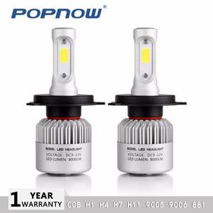 2pcs h4 ha condotto la lampadina H7 LED H1 H8 H9 H11 Auto S2 fari 8000LM COB Luce LED dell'automobile misura per ford focus 6000K HB2 9003 h11
