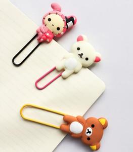 2018 Cute Large Rilakkuma Chicken Youyou Rabbit Clip de Papel Marcar Carpeta Oficina Material Escolar Accesorios de Escritorio