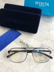 New mykita 1769 óculos de sol para o quadro piloto homem com espelho ultralight frame Memory Alloy óculos de sol oversized para as mulheres design legal ao ar livre