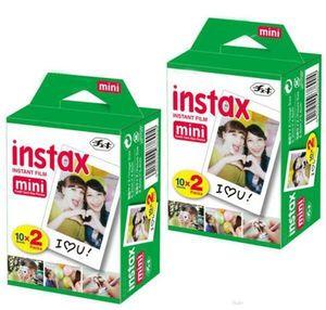 Mais novo instax branco filme intax para mini 90 8 25 7 s 50 s polaroid câmera instantânea dhl livre