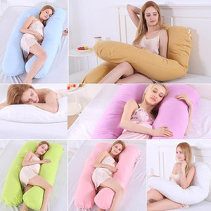 Big U Shape Maternity Pregnancy Pillow Pure Cotton Sleeper Women Slide Cushion Sleeping Support Pillow For Pregnant Women